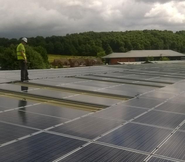 Recent solar panel Installation in Derby