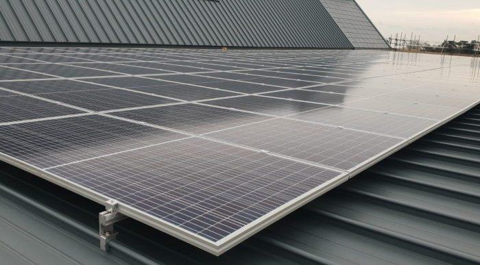 Warehouse Roof Solar Install