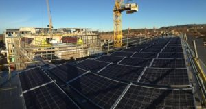 Installing Solar Panels on Commercial Roof