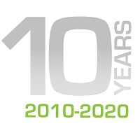Celebrating 10 Years logo