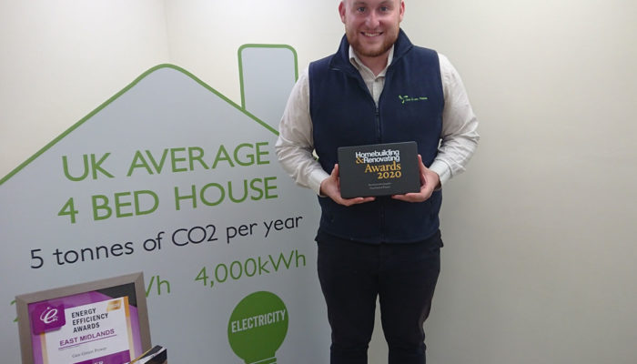 Jack with Homebuilding and Renovating Award