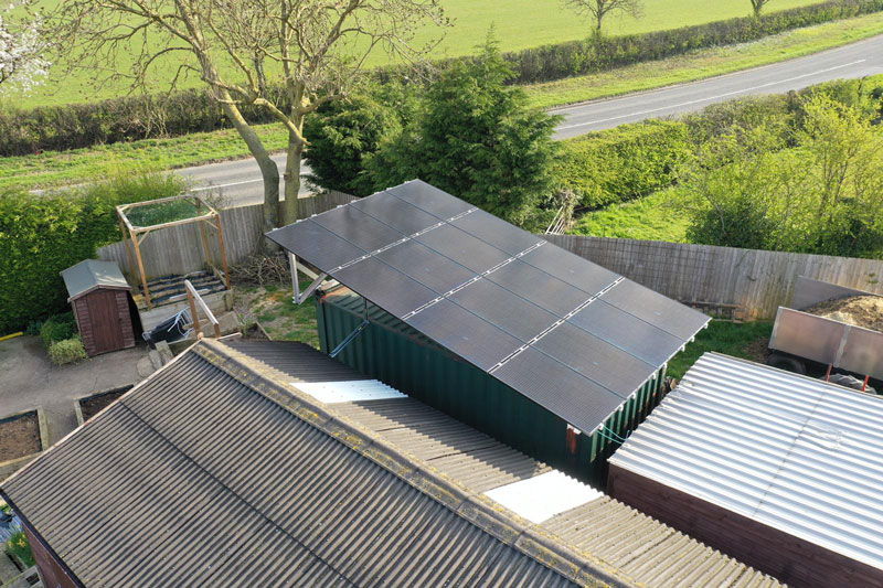 Solar PV on container