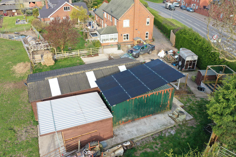 Bespoke Solar Mounting At Family Home