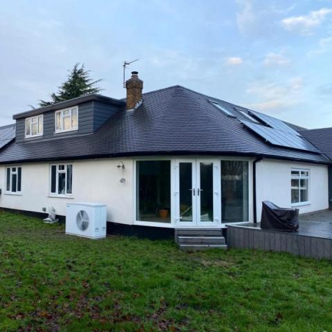 Geo Green Solar & ASHP install