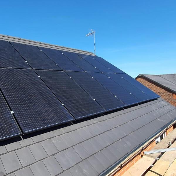 Geo Green Solar Installation New Build