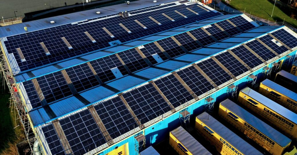 Large Commercial Solar PV Installation in Liverpool for West Coast Corrugated